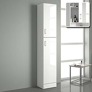 iBathUK Tall Gloss White Bathroom Cupboard Reversible ...