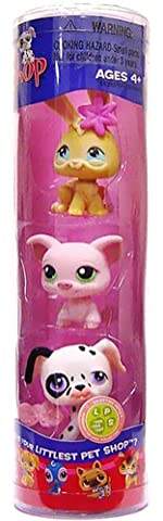 Littlest Pet Shop Exclusive Tube 3-Pack (Bunny, Pot Belly Pig and Exclusive Dalmation)