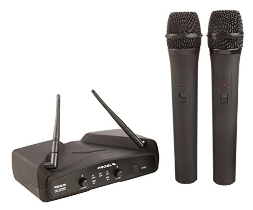 PROEL WM202DM Sistema microfono wireless, UHF Dual...