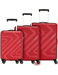 Kamiliant by American Tourister Kiza Combo set of 3 Ruby Red Small, Medium and Large 4-wheel Check-in Suitcase