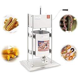 BAOSHISHAN Machine pour Churros Churros machine à pain 10L manuel Commercial Outil Professionnel de machine à Churros de cuisine cuisson Pâtisserie CE