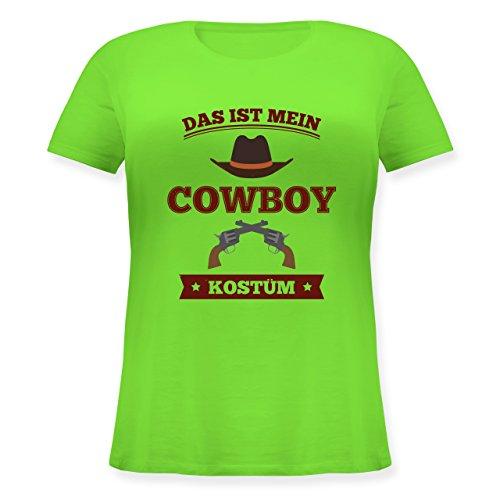 (Karneval & Fasching - Das ist Mein Cowboy Kostüm - L (48) - Hellgrün - JHK601 - Lockeres Damen-Shirt in großen Größen mit Rundhalsausschnitt)