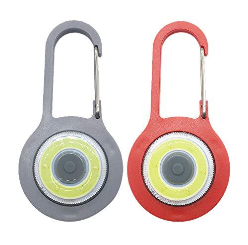 Vimmor Kleine Mini-LED-Karabiner Taschenlampe Schlüsselanhänger Superhelles Notfalllicht, 3 Modi, stärkste Stroboskop-Taschenlampe mit Karabiner für Bergrucksack, weiß