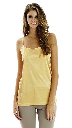 Melody Damen Unterkleid Gelb