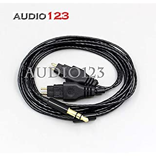AUDIO123 Silber überzogene Schnur Kopfhörer Kompatibel Kabel für Sennheiser HD580 HD600 HD650 Kopfhörer 1.2M