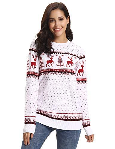 Abollria Maglioni Donna per Natale Maglione Elegante Invernale Pullover per Natale