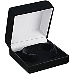 Optima 32-10501 Flocked Bracelet Box Black Watch Case