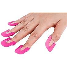 TININNA 26pcs Impermeable dedo de manicura para uñas polaco Shield Protector Plantillas Herramientas de moldes
