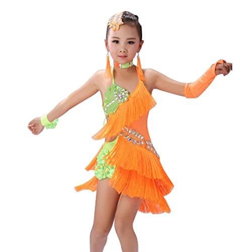 Kostüme Quaste tanzen Latin Rumba Salsa Cha Cha Tango Ballsaal Tanzkleid (Salsa Kostüme Für Mädchen)