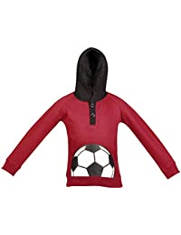 Gkidz Infants Full Sleeve Maroon Hooded Sweatshirt (INF_WWB-001-MAROON_Maroon)