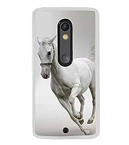 White Horse 2D Hard Polycarbonate Designer Back Case Cover for Motorola Moto X Style :: Moto X Pure Edition