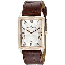 Jacques Lemans Bienne 1-1611D Men's Brown Leather Strap Watch