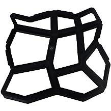 OUNONA Stampo per mattoni di pavimentazione in cemento a forma di esagono in plastica per creazione percorso vialetto di giardino