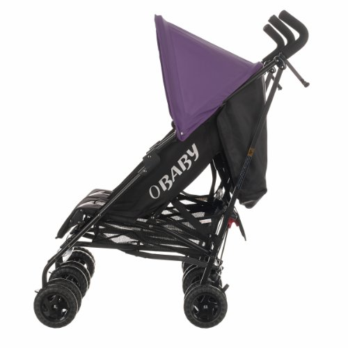 Obaby Apollo Black & Grey Twin Stroller (Purple)