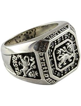 Löwen Ring Rasta Löwe Lion Zirkonia Silberring 925 Silber Herrenring