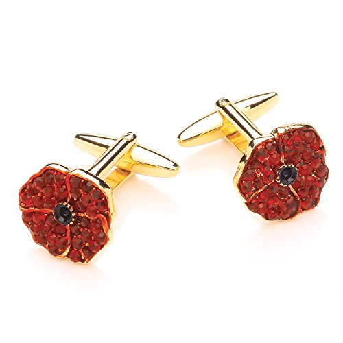 Code Red Homme Plaqué Or Rond Kristall Accessoires