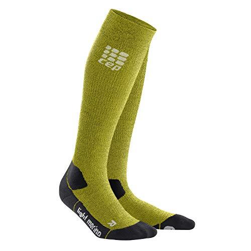 CEP - Outdoor Light Merino Socks | Lange Wandersocken in grün | Größe IV für Herren