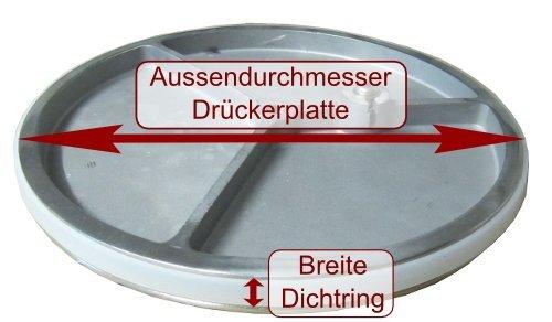 Beeketal hochwertiger Dichtungsring passend zu vielen Wurstfüllern (Beeketal Serie: BT BTH MT in 3, 5 und 7 Liter) Ø 133 mm