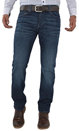 Herren Jeans Hose Straight Leg gerader Schnitt NEU Blue Petrol Jeanshose W30 bis W42 verfügbar (W33/L34, Dark Blue/ Dunkel Blau R1)