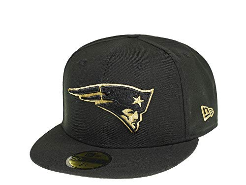 New Era New England Patriots All About Black and Gold 59Fifty Fitted Cap - NFL Kappe (7 1/2)