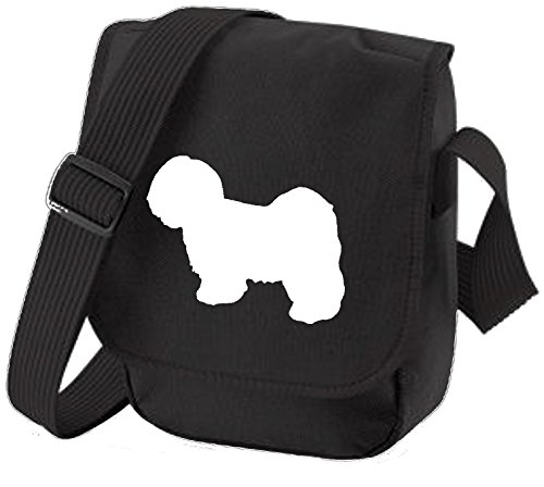 Bag Pixie - Borsa a tracolla unisex adulti Lhasa White on Black