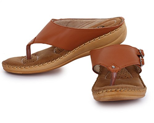 a245b77a73fb51 Buy Trase Dr - Plus Tan / Brown Ortho Slippers for Women ( With Comfortable  Doctor Sole) on Amazon   PaisaWapas.com