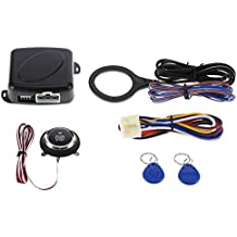 KKmoon Avviamento del motore dell'auto con pulsante, serratura RFID, interruttore di accensione senza chiave, sistema antifurto
