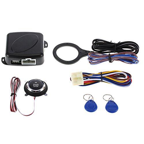 KKmoon Arranque de Motor Pulsador Arrancador Botón de Coche RFID Cerradura Interruptor de Encendido sin Llave Sistema Antirrobo