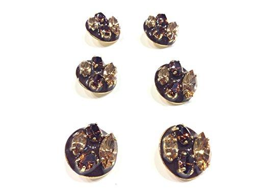 Zoom IMG-1 de liguoro bottone gioiello pietre