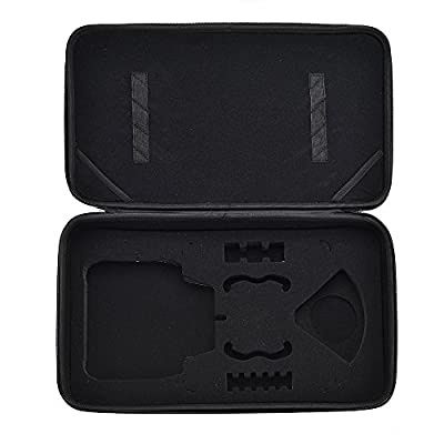 Case New Portable Hard Shell EVA Carrying Case for Syma X5C Quadcopter Drone With Rubber Handle and Protective Foam Padding Inside.-Black