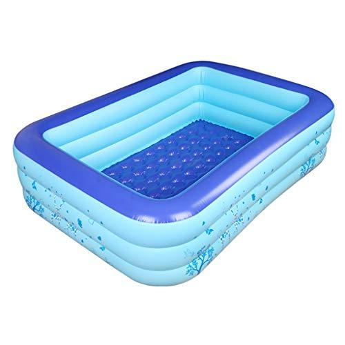 CQyg CQ Aufblasbarer Pool, Kinderplanschbecken, PVC-Wasserballpool, 3 Umweltfreundliche, Warme Rechteckige Familienbäder 3 Größen (Farbe : B, größe : 160 * 120 * 60cm)