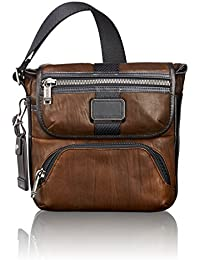 Tumi Alpha BravoBarton Crossbody, Leather Sac bandoulière, 24 cm, 3.4L, (Dark Brown Leather)