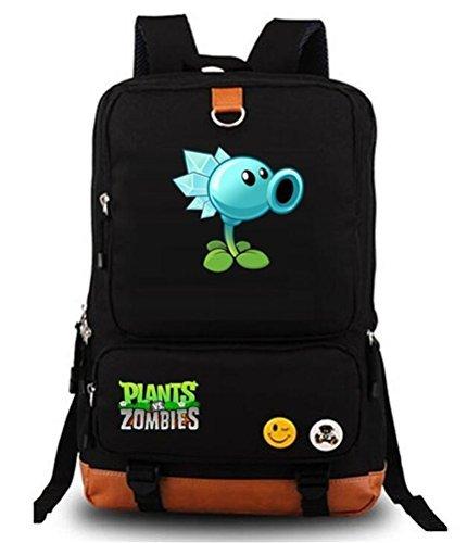 Siawasey cute Plants zombie Hot Game Bookbag zaino da scuola nero C7