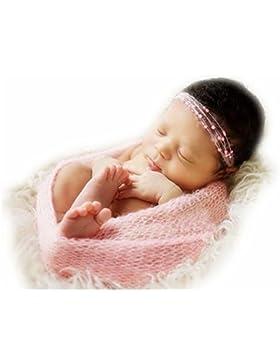Fotografia Prop infante appena nato Mohair Stretch Knit Wrap coperta del bambino Foto del contesto