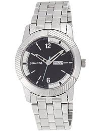 Sonata Everyday Analog Black Dial Men's Watch-NK7100SM02