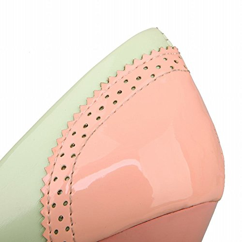 MissSaSa Donna Scarpe col Tacco a Cono Alto Dolce Pumps Rosa