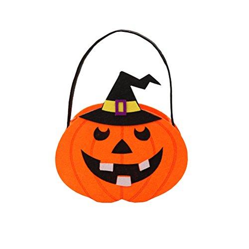 (Amosfun Halloween Kinder Süßigkeitstaschen Handtaschen Non-Woven Candy Taschen Party Favors (Kürbisse))