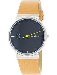 Skagen Herren-Armbanduhr Analog Quarz Leder SKW6194
