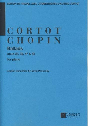 CHOPIN - Baladas para Piano (Cortot) (Ed.Ingles)