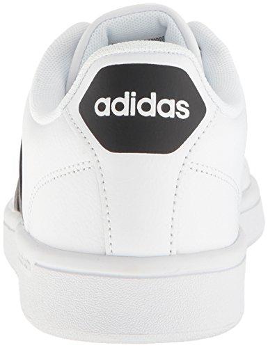 Adidas cloudfoam Blanc Advantage Clean, Chaussures basses homme Blanc cloudfoam noir 42f2f8