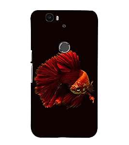 printtech Unique Fish Back Case Cover for Motorola Google Nexus 6P