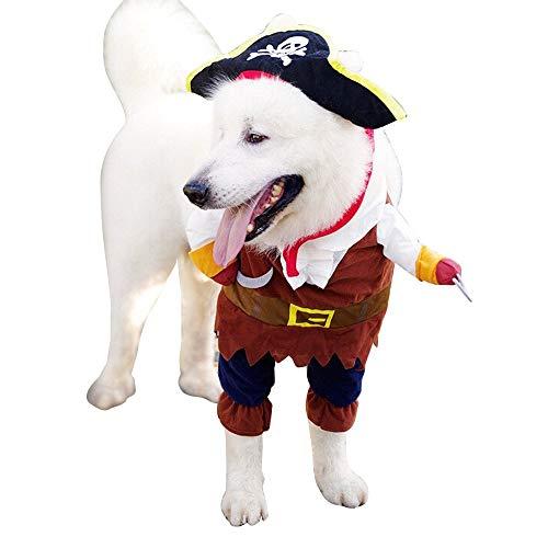 Seefahrer Halloween Weihnachten Party Geschenk Fancy Kleid Kostüm Outfit für Hunde Katze YAWJ (Farbe : A, größe : Xl) ()