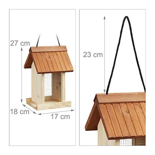 Relaxdays Vogelfutterhaus aus Holz - 3