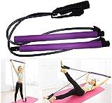 JayQm Bastone Pilates, Bande di Esercizio Resistenza di Circuito, Pilates Bar Elastico Cavo Barre tonico Corpo Sport, Yoga Booty sistemi di movimentazione, allungamento e la Forma