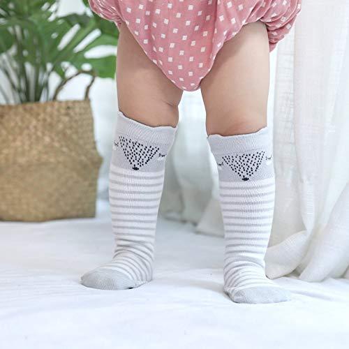 Invierno cálido recién nacido calcetines bebé rodilla