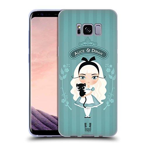 Head Case Designs Alice Et Dinah Alice Au Pays Des Merveilles Étui Coque en Gel molle pour Samsung Galaxy S8