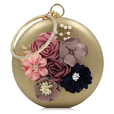 pwne L. In West Woman Fashion Luxus High-Grade Bead Blume Abend Tasche Gold