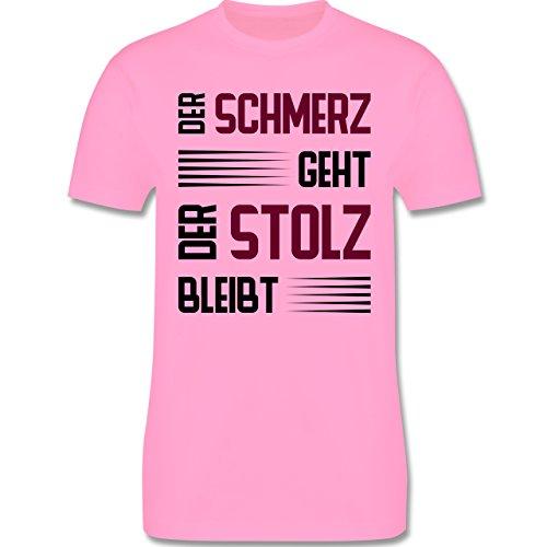 Laufsport - Der Schmerz geht doch der Stolz bleibt - Herren Premium T-Shirt Rosa
