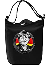 Angela Merkel Portrait Leinwand Tagestasche Canvas Day Bag| 100% Premium Cotton Canvas| DTG Printing|