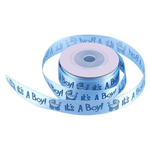 Asixx Schleifenband, Baby Dekoband Geschenkband für Junge Babyparty Baby Dusche Baby Shower Blau Rosa(Blau) (Blau-baby-dusche Rosa Und)